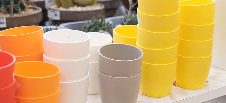 home pots colourful